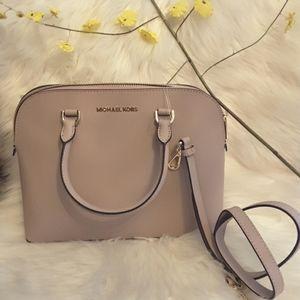 Michael kors cindy lg dome satchel genuine leather